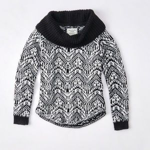 A&F black and white off shoulder sweater